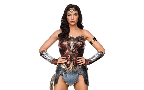 Wallpaper Wonder Woman, Gal Gadot, white background