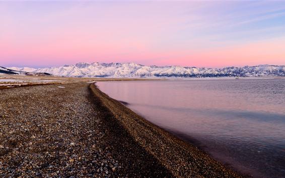 Wallpaper Xinjiang Sailimu Lake