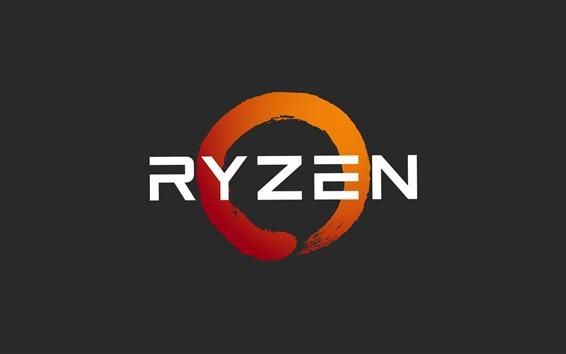 Papéis de Parede Logotipo do processador AMD Ryzen