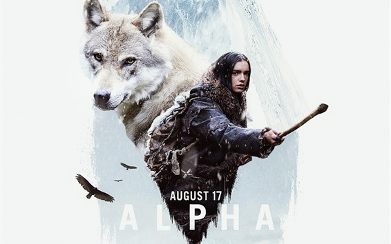 Wallpaper Alpha, girl and wolf, movie 2018