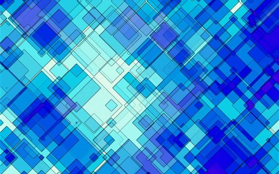 Обои Синий абстрактный фон, квадрат