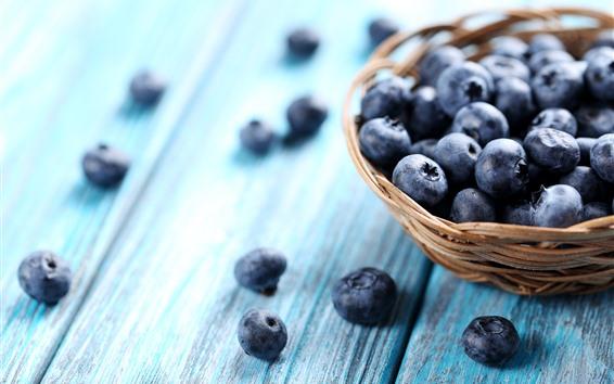 Wallpaper Blueberries, basket, hazy