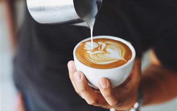 Wallpaper Cappuccino, coffee, milk