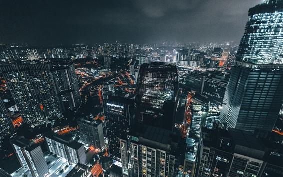 Wallpaper City night, lights, skyscrapers