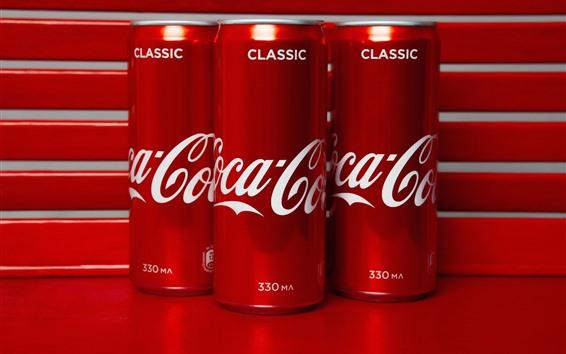 Wallpaper Coca-Cola, red jars, drinks