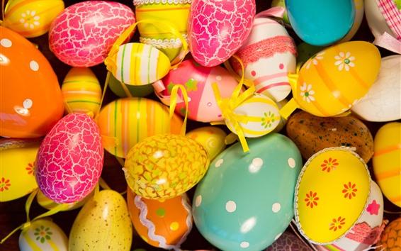 Papéis de Parede Ovos de Páscoa coloridos, pintados