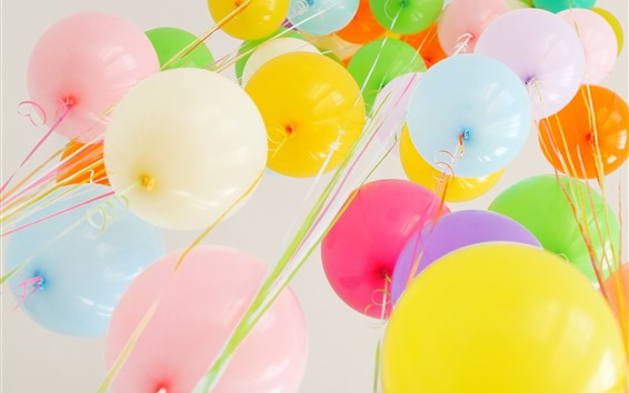 Wallpaper Colorful balloons, holiday
