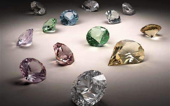 Wallpaper Colorful diamonds, jewel