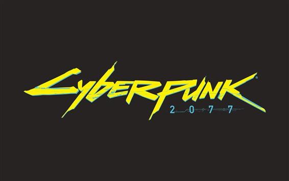 壁紙 サイバーパンク2077のロゴ