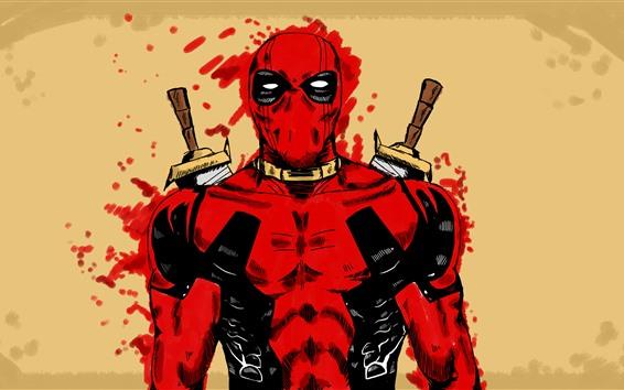 Fondos de pantalla Deadpool, superhéroe, fotografía artística, Marvel