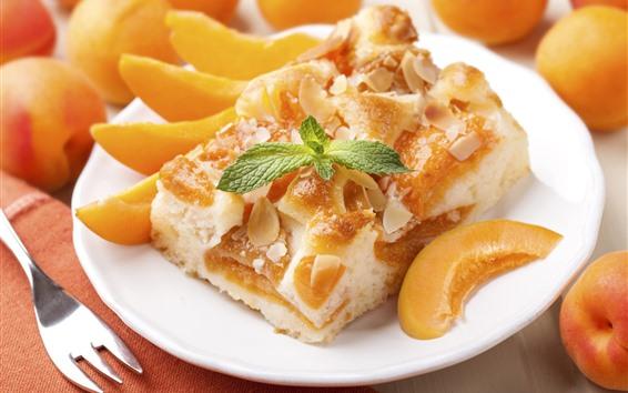 Wallpaper Dessert, cake, apricot slice