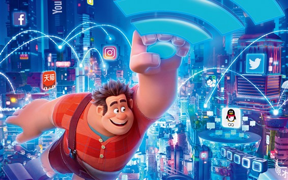 Fond d'écran Film Disney, Ralph casse l'Internet