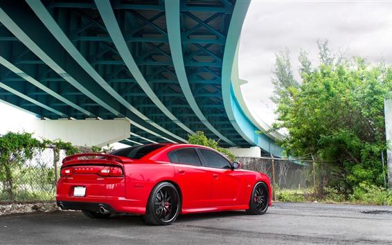 Wallpaper Dodge SRT8 red car