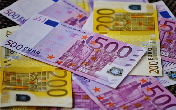 Wallpaper Euro, money, paper currency