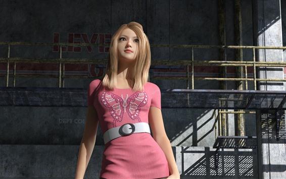 Wallpaper Fantasy girl, blonde, pink skirt