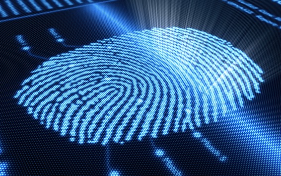 Wallpaper Fingerprint, abstract, light