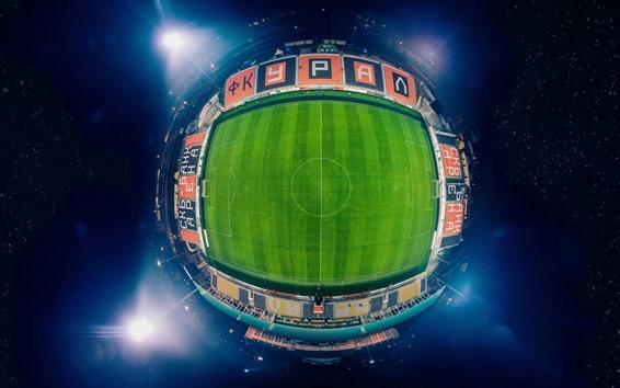 Fussballstadion Draufsicht Nacht 5120x2880 Uhd 5k