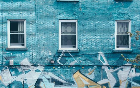 Wallpaper Graffiti wall, windows
