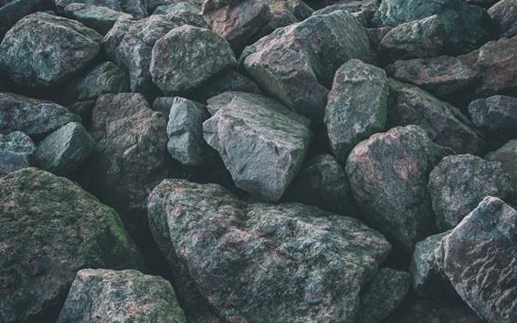 Wallpaper Gray rocks, texture