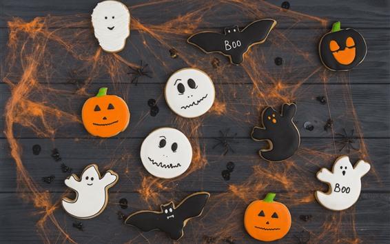 Fond d'écran Halloween, biscuits, nourriture