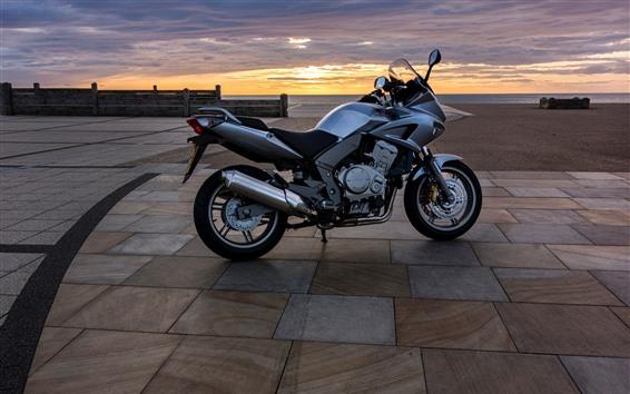 Wallpaper Honda motorcycle, sunset
