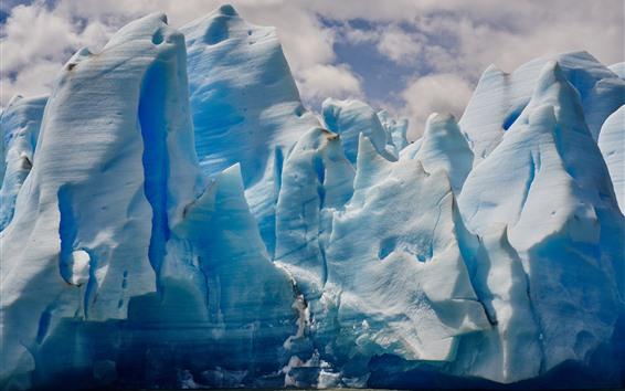 배경 화면 빙산, 바다, 얼음