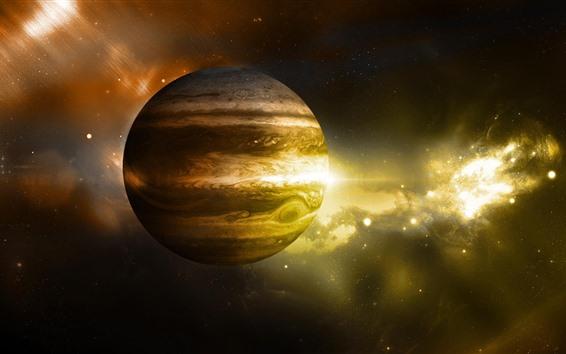 Обои Юпитер, звезды, космос