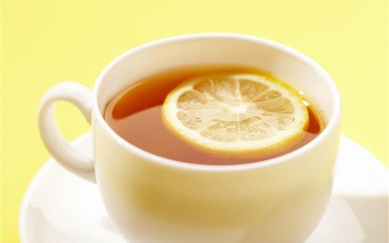 Wallpaper Lemon tea, cup, hazy