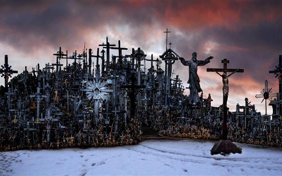 Wallpaper Lithuania, Hill of Crosses