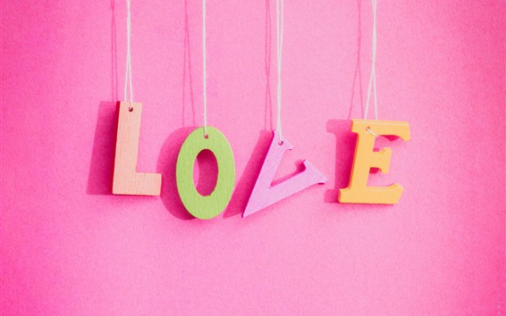 Wallpaper Love, pink background