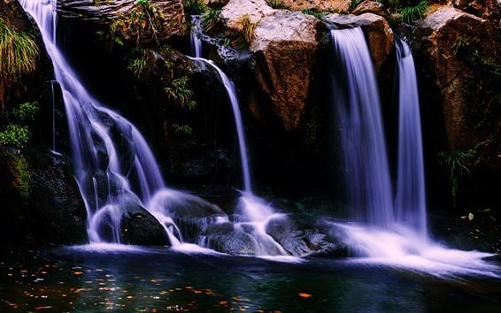 Fond d'écran Lushan, cascade, eau, Chine