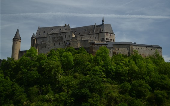 Wallpaper Luxembourg, Vianden, castle