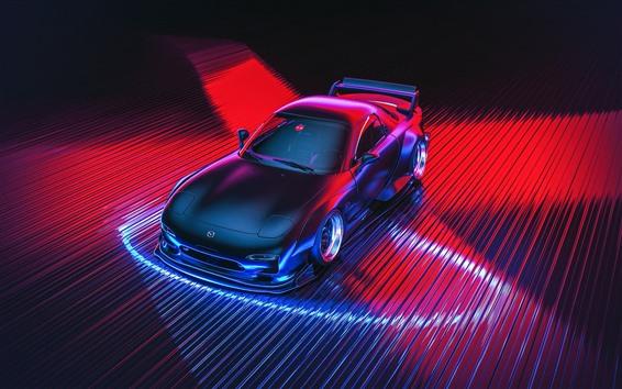 Fond d'écran Mazda RX-7 voiture de sport, conception 3D