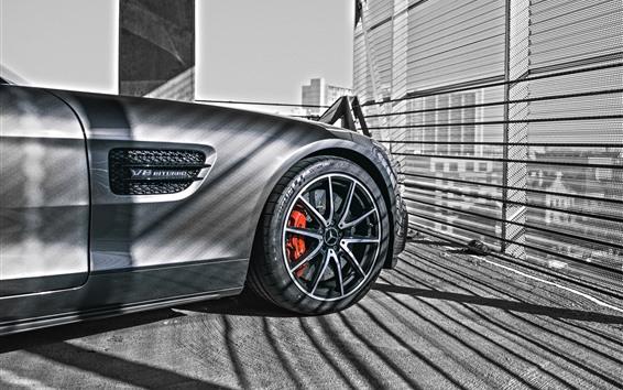 Обои Переднее колесо автомобиля Mercedes-Benz