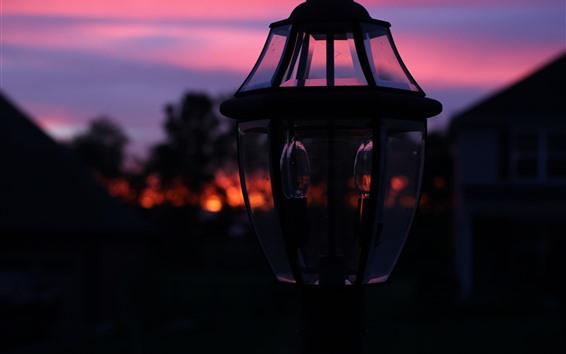 Papéis de Parede Noite, lâmpada, escuridão