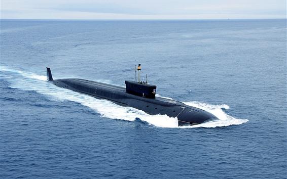 Wallpaper Nuclear submarine, Navy, sea