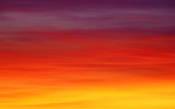 Fond d'écran Ciel orange, coucher de soleil