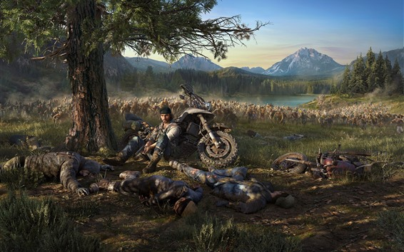 Wallpaper PS4 game, Days Gone