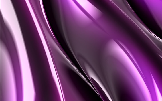 Wallpaper Purple fractal graphics, abstract