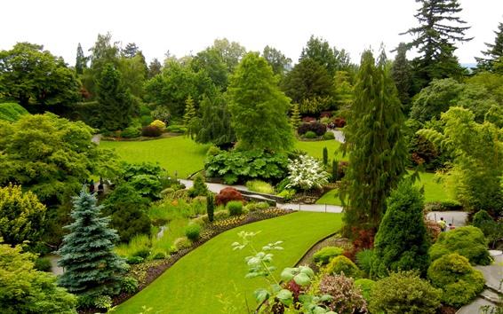 Wallpaper Queen Elizabeth Garden, Canada, beautiful park