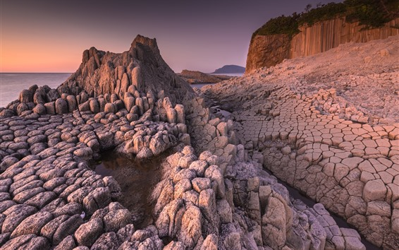 Обои Скалы, камни, трещины, море