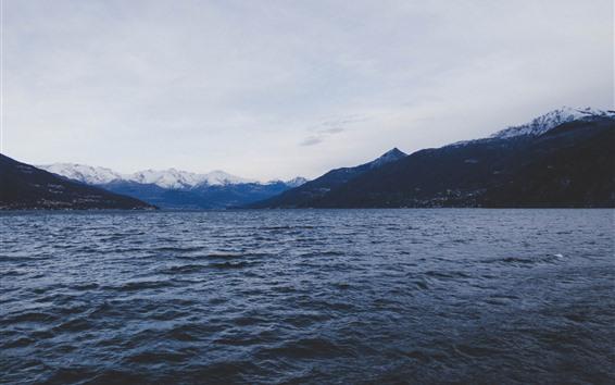 Fond d'écran Mer, montagne, paysage naturel