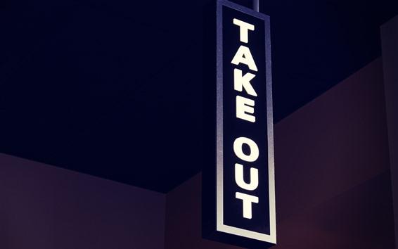 Wallpaper Signboard, Take Out