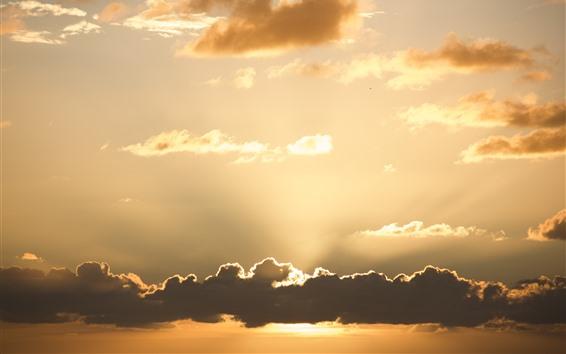 Wallpaper Sky, clouds, sunset