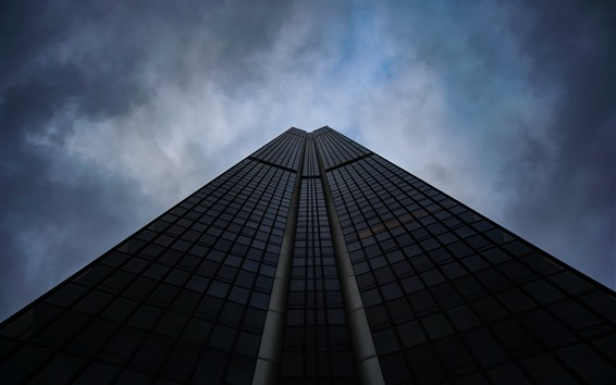 Wallpaper Skyscraper, from bottom view, sky