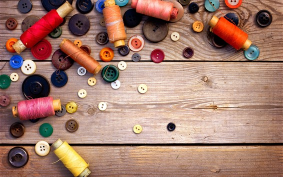 Wallpaper Some thread rolls, buttons