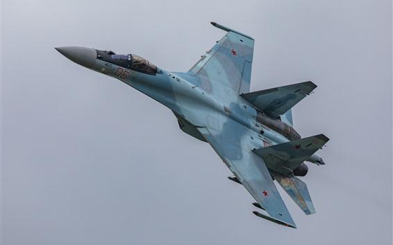 Wallpaper Su-35S multipurpose fighter flight