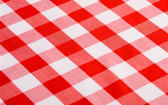 Papéis de Parede Toalha de mesa, listras vermelhas e brancas