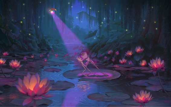Wallpaper The Princess and the Frog, cartoon movie