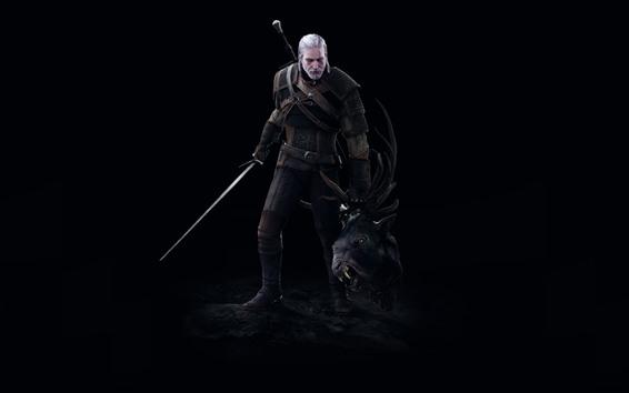 Обои Ведьмак 3: Дикая охота, черный фон